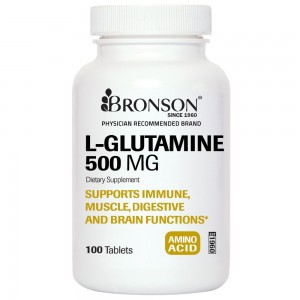Bronson Vitamins Bronson Labs: L-Glutamine 500 mg, 100 Tablets, Highest Quality, Made in USA