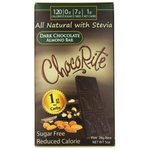 ChocoRite Dark Chocolate Bars, Almond, 5 Ounce