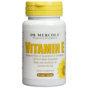 Dr. Mercola Vitamin E - Balanced Blend Of Tocopherols And Tocotrienols - Made With Sunflower Oil -
