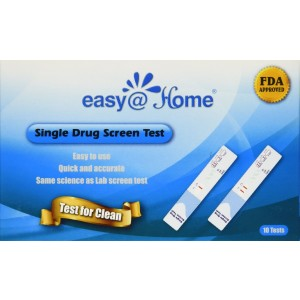 10 Pack Easy@home Marijuana (thc) Single Panel Drug Tests Kit - Individually Wrapped Single Panel THC Screen Urine Drug Test Kit - 10 Tests