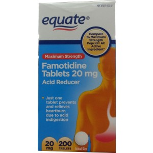 Maximum Strength Famotidine Tablets 20mg, 200ct, Acid Reducer, By Equate, Compare to Maximum Strength Pepcid AC
