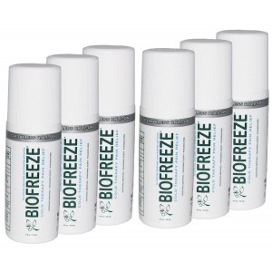 Beststores Biofreeze Pain Relieving Colorless Roll-On 3oz - Pack of 6