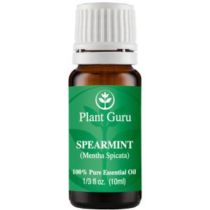 Plant Guru Spearmint Essential Oil 10 ml. 100% Pure, Undiluted, Therapeutic Grade .