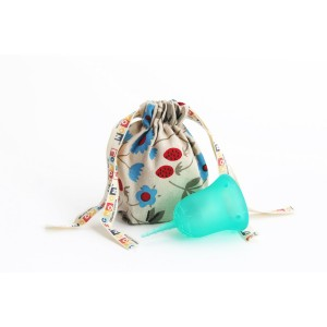 Sckoon Organics SckoonCup ECOPAC Made in USA - FDA Cleared - Plus Organic Cotton Pouch - Sckoon Menstrual Cup - Ha