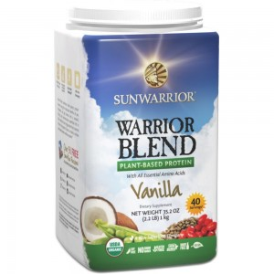 Sunwarrior Warrior Blend Raw Vegan Protein Powder, Vanilla 2.2 lbs (FFP)
