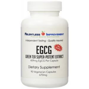 Relentless Improvement EGCG Green Tea Super Potent Extract | Unique 409mg EgCG per capsule | Polyphenols standardized to