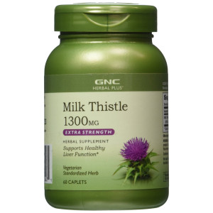 GNC Herbal Plus Milk Thistle 1300 MG 60 Caplets