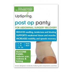 Post Op Panty High Waist Compression + Silicone Scar Care (L/XL, Black)