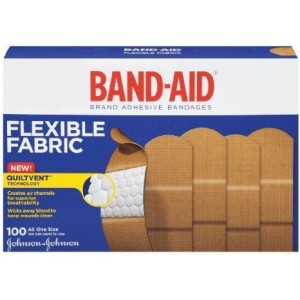 "Band-Aid Adhesive Bandages, Flexible Fabric, All One Size 1"" X 3"" , 100 Count"