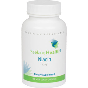 Seeking Health Niacin | Provides 50 mg of Niacin in an easy-to-swallow vegetarian capsule | Vitamin B3 | Free of