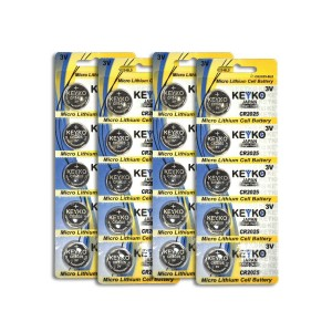 CR2025 3V Micro Lithium Coin Lithium Cell Battery 2025. Genuine KEYKO  - 20 pcs Pack (4 Blisters)