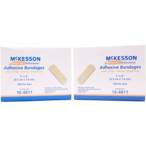 "Mckesson Medi-Pak Performance Adhesive Bandages 1"" x 3"" 100/BX (Pack of 2 Boxes)"