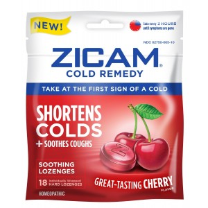 Zicam Cold Remedy Soothing Lozenges, Cherry Flavor, 18 Count