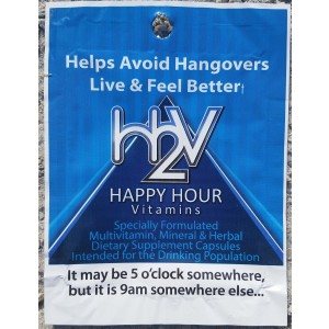 Happy Hour Vitamins -20 Packs- Multivitamin Formulated to Help w/ Hangovers and Liver Support - Easy as 1 Dose -100% Satisfaction Guaranteed -Stop Looking for a Hangover Cure, Prevent Hangovers!