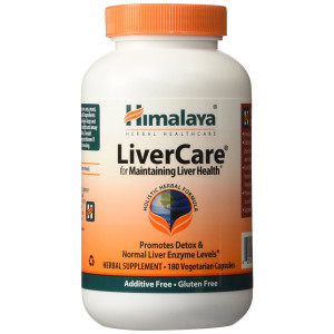 Himalaya Herbal Heathcare Himalaya LiverCare/Liv.52, 180 VCaps for Liver Detox 375mg (2 PACK)