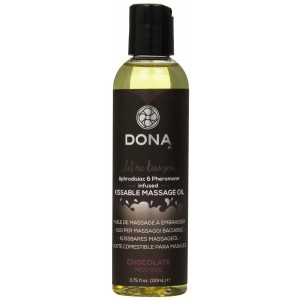 System Jo Dona Kissable Massage Oil, Chocolate Mouse, 3.75 Ounce