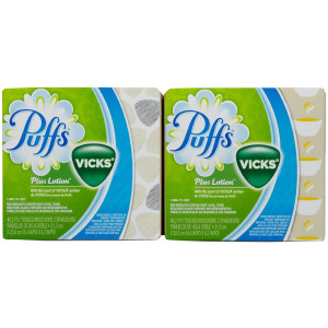 Puffs Plus Lotion Facial Tissues with scent of Vicks - 48 ct - 2 pk