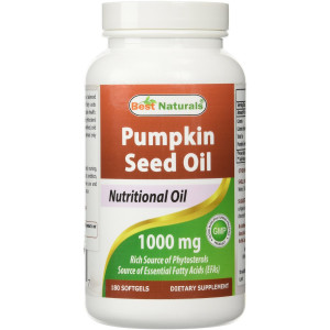 Pumpkin Seed Oil 1000 mg 180 Softgels by Best Naturals - Source of Essential Fatty Acids