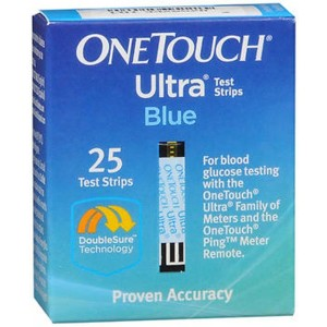 OneTouch Ultra Test Strips Blue 25 Ct