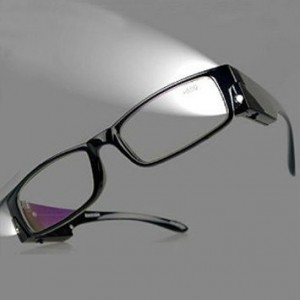 QRD glasses Fashion Design Optics Led Reading Glasses Light Glasses Oculos Degree Unisex Eyeglasses +1.0, +1.5