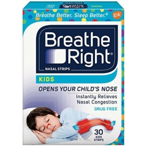 Breathe Right Nasal Strips Kids 30-count Boxes with Colorful Strips Pack of 2