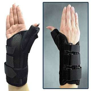 Bird & Cronin Bird and Cronin 08147362 Primo Wrist Brace with Thumb Spica, Right, Small Size, Black