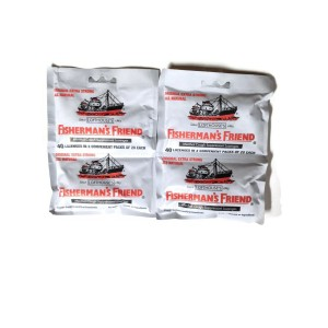 Fisherman's Friend Original Extra Strong Cough Suppressant Lozenges, 40-Count Bags (2 Sets)