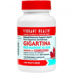 Vibrant Health - Gigartina RMA 250 mg - Antiviral Natural Immune Support, 120 count (FFP)