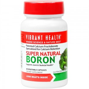 Vibrant Health - Super Natural Boron - Helps maximize calcium absorption and balance hormones, 60 count