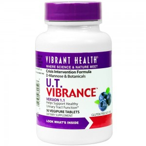 Vibrant Health - U.T. Vibrance - D-Mannose and Botanicals Designed to fight E. Coli and promote UT