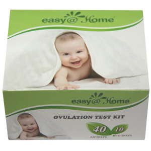 Easy@Home branded Combo 40 Ovulation (LH) and 10 Pregnancy (HCG) Tests Strips Kit