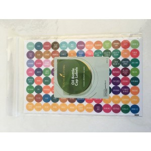 Young Living Essential Oil 5ml and 15ml Bottle Cap Labels - 1 New Complete Set