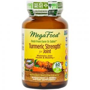 MegaFood - Turmeric Strength for Joint, Supports Joint Health and Mobility, 60 Tablets (Premium Pa