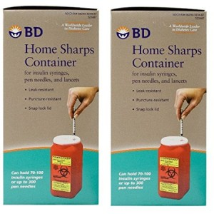 BD (Becton Dickinson) BD Home Sharps Container 1.4 qt/Each - 2 Pack