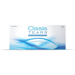 Oasis TEARS Lubricant Eye Drops, One 30 Count Box Sterile Disposable Containers