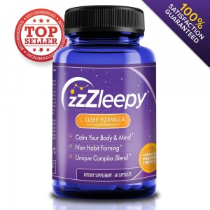 ZZZleepy #1 Best Recommended Sleeping Pills For Insomnia Relief   Relax and Fall Asleep Fast   100% All-Nat