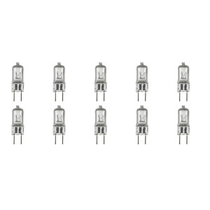 12Vmonster  * 10 Pack * G8 100 Watt 120v halogen light bulbs JCD Type 110v 130v 100W t4 G8 120V