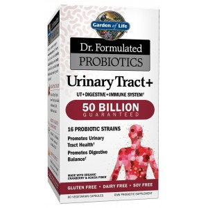 Garden of Life Dr. Formulated Probiotics Urinary Tract Plus Capsules, 60 Count