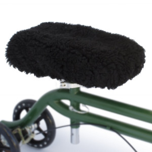Top Glides DELUXE Universal Knee Walker Pad Cover (Black)