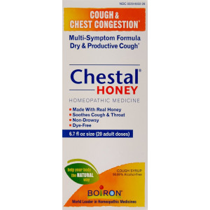 Boiron Chestal Adult Honey Cough and Chest Congestion Medicine, 6.7 Fluid Ounce