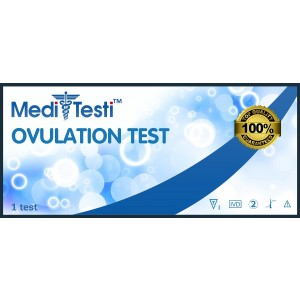 25 Ovulation Test Strips / MediTesti Brand / Super Sensitive LH OPK Ovulation Predictor Kit