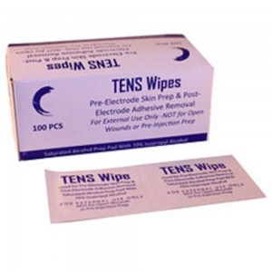 Fid-Med TENS Skin Prep Wipes-Box of 100 Pre-Electrode Skin Prep and Post Electrode Adhesive Removal For Ex