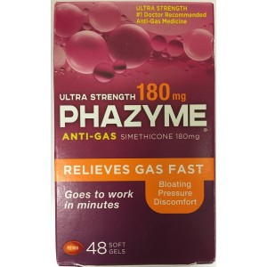 Phazyme Ultra Strength Gas Relief, 48 Softgels (1 Pack)