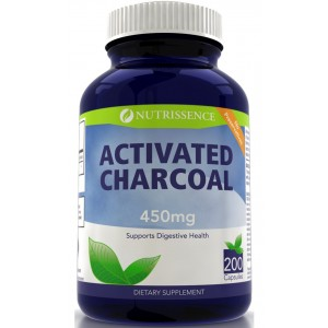 Activated Charcoal 450mg 200 Capsules - Nutrissence