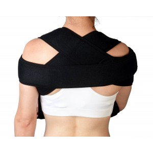 Shoulder Immobilizer and Arm Sling by Soles — Breathable, Lightweight and Adjustable Neoprene — Soft, Comfortable Support — Improves Recovery Times — Velpeau Bandage — One Size Fits Most