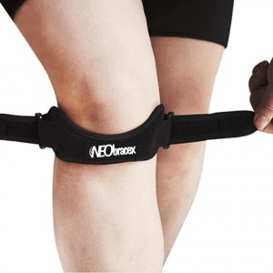 NEObracex Patella Tendon Strap Knee Pain Relief and Patella Stabilizer for Jumpers Knee, Running, Tennis, Osgood Schlatter, Tendonitis, Fully Adjustable Knee Brace