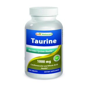 Taurine 1000 mg 250 Tablets by Best Naturals - Manufactured in a USA Based GMP Certified and FDA I