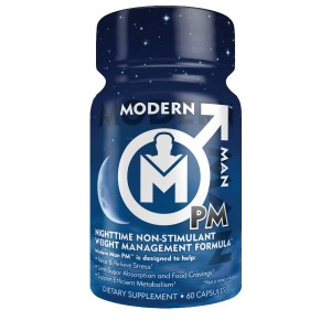 Modern Man Products Modern Man PM, Premium Night Time Fat Burner and Sleep/Relaxation Formula, Stress Relief (Clear Mi