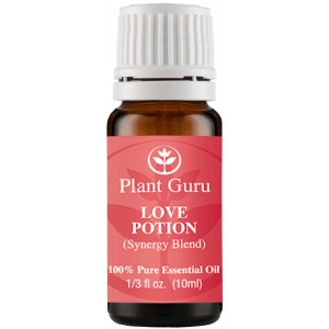 Plant Guru Love Potion (Aphrodisiac) Synergy Essential Oil Blend 10 ml. 100% Pure, Undiluted, Therapeutic Gra
