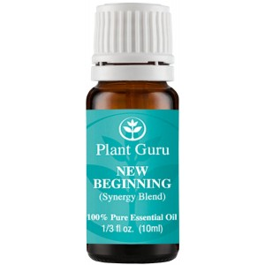 Plant Guru New Beginning Synergy Essential Oil Blend 10 ml. 100% Pure, Undiluted, Therapeutic Grade . (Blend